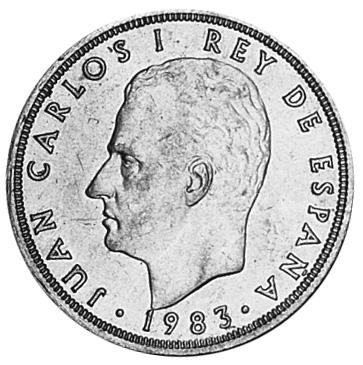 Spain 50 Pesetas obverse