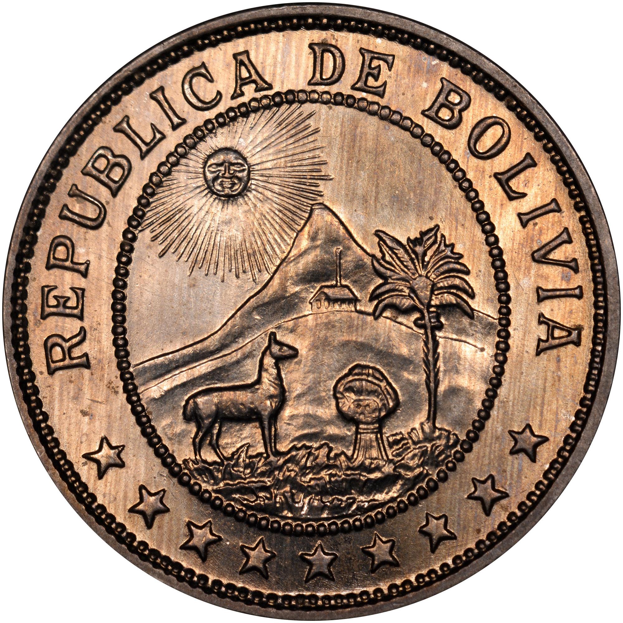 Bolivia 50 Centavos obverse