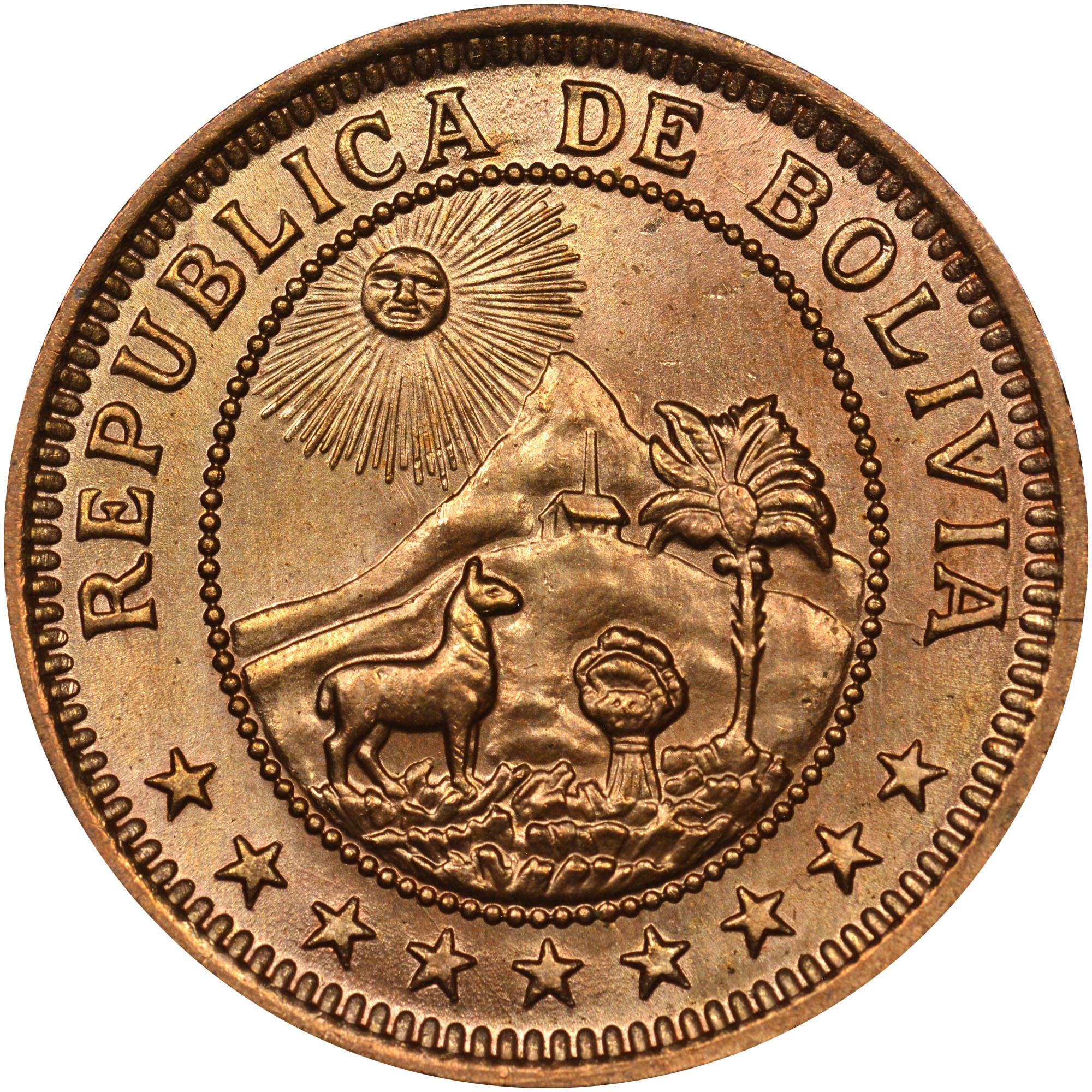 Bolivia Boliviano obverse