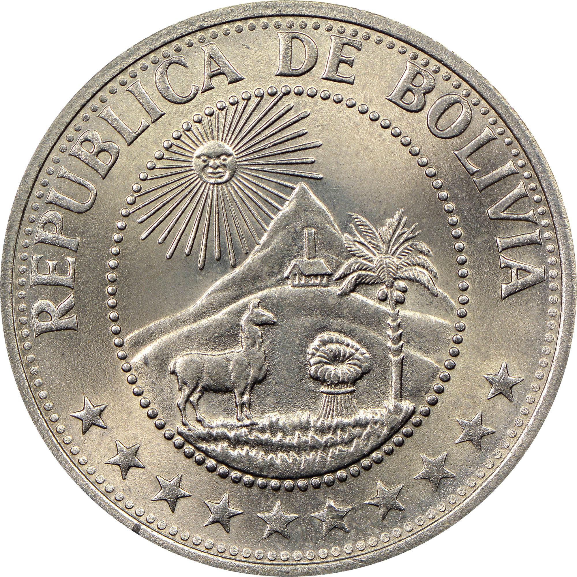 Bolivia Peso Boliviano obverse