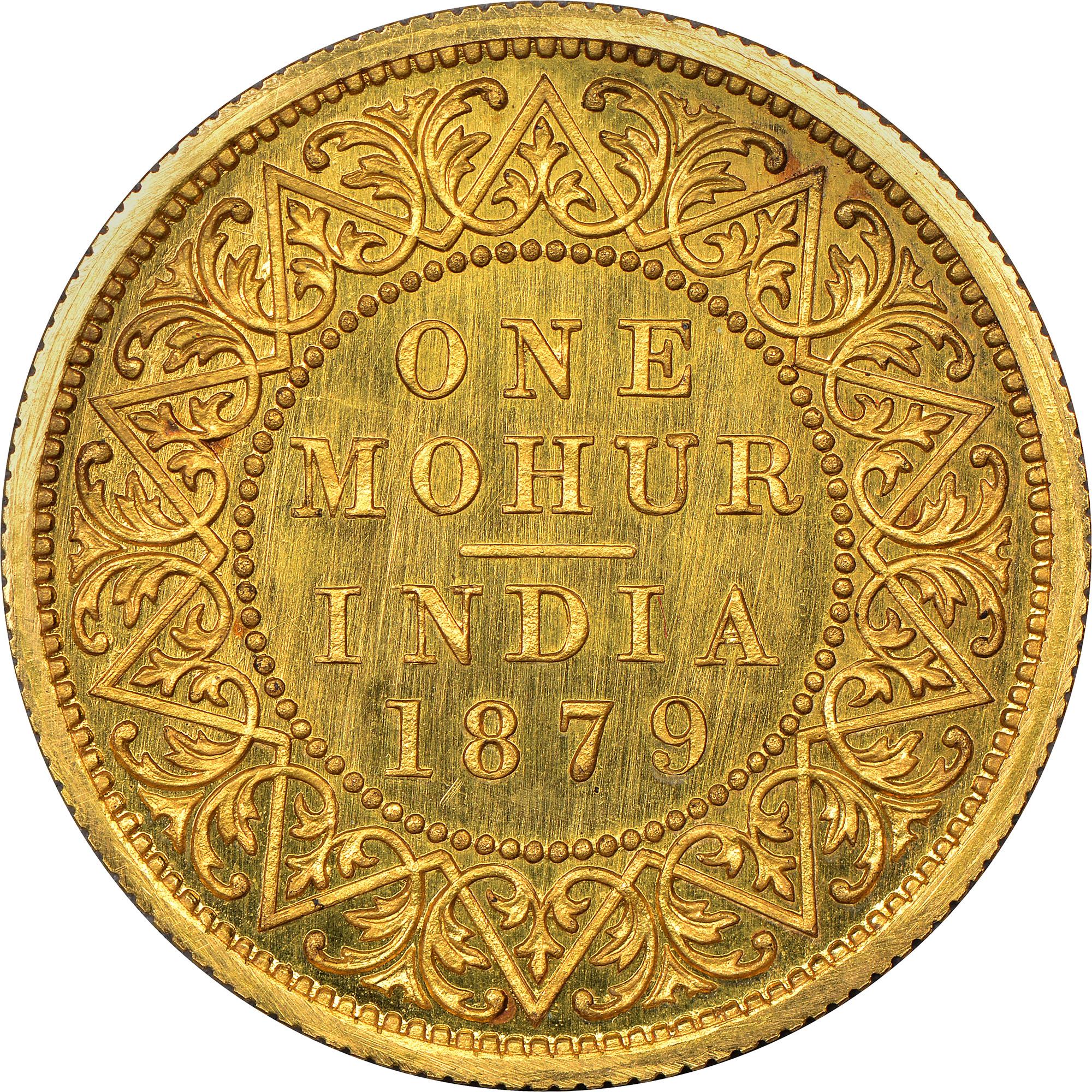India-British Mohur reverse