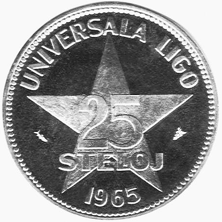 Esperanto 25 Steloj reverse