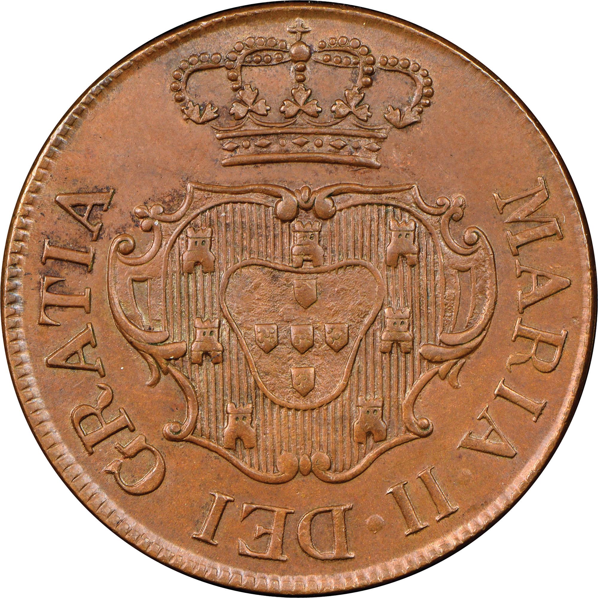 1830 Azores TERCEIRA ISLAND 5 Reis obverse