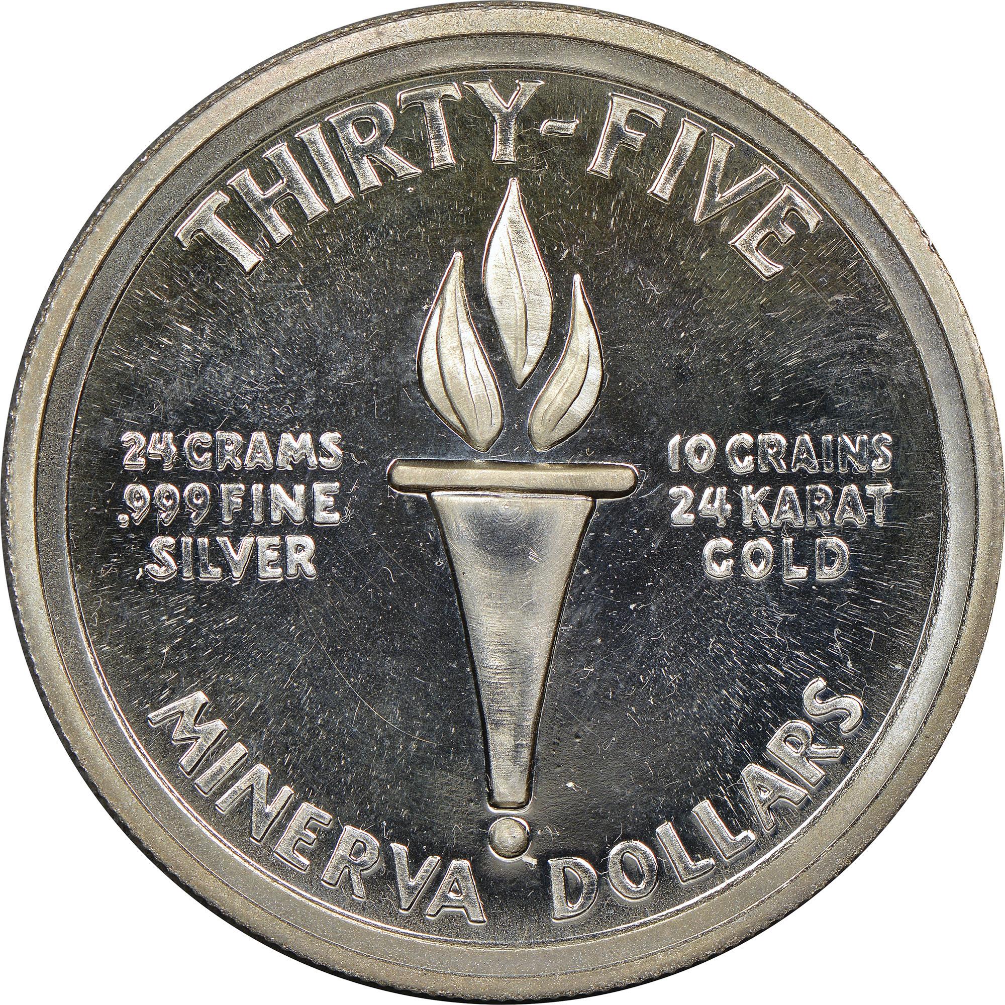 Minerva 35 Dollars reverse