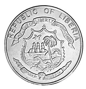 Liberia 5 Cents obverse