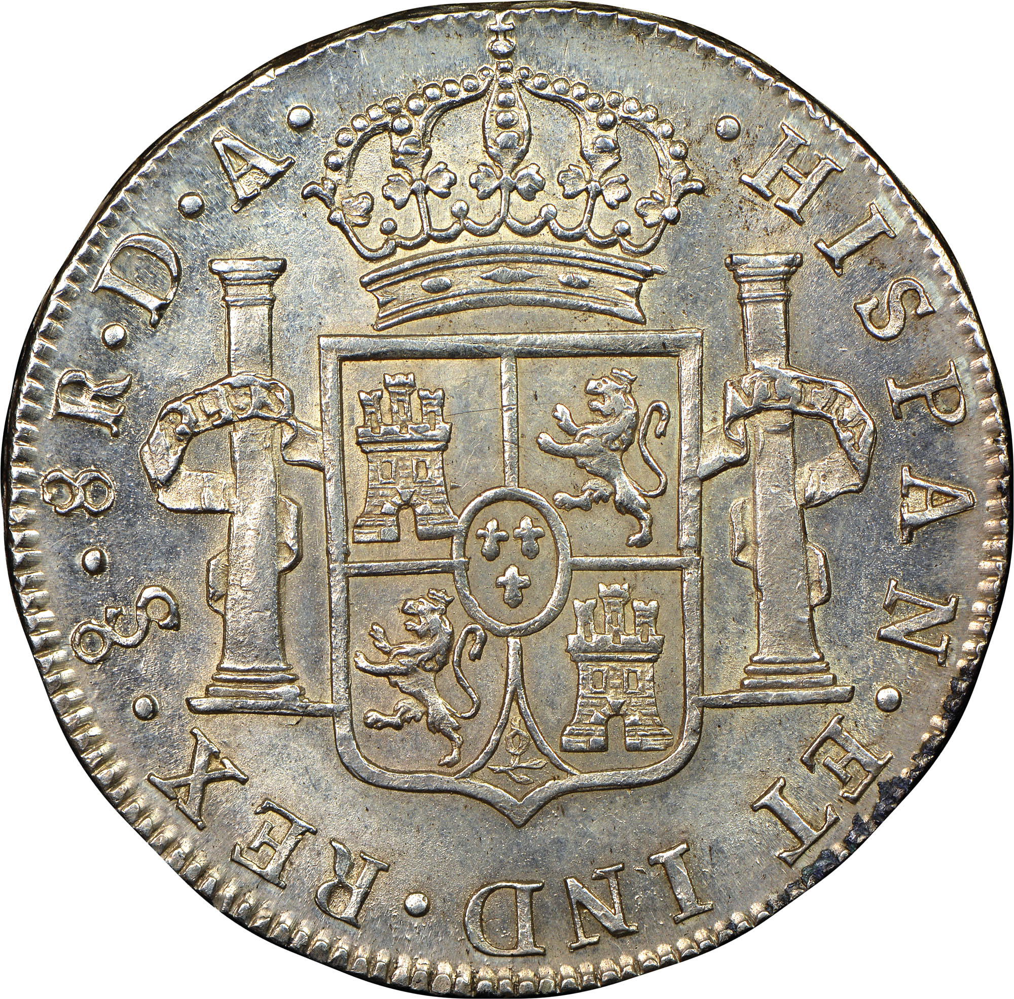 1791-1808 Chile 8 Reales reverse