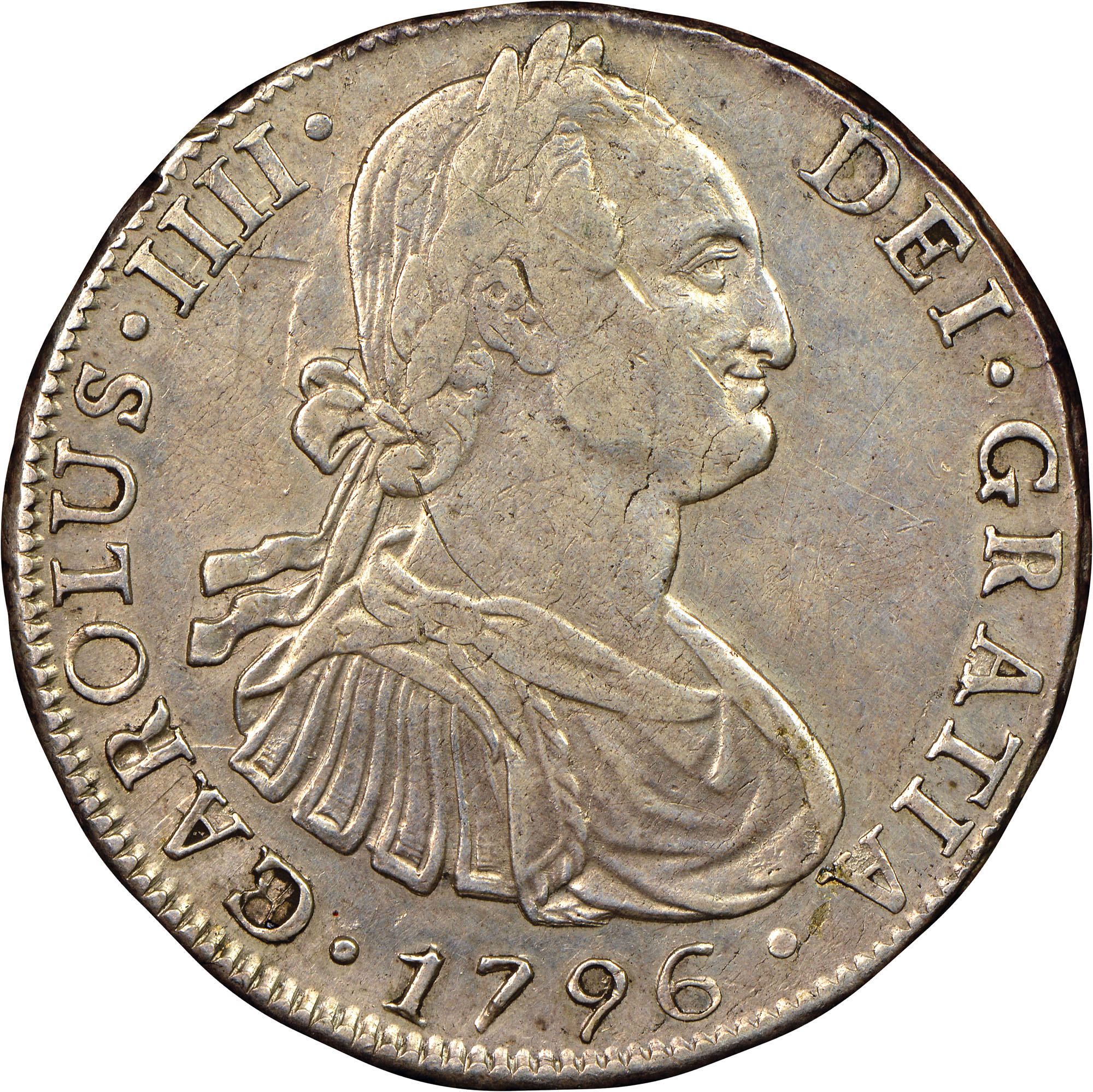 1791-1808 Chile 8 Reales obverse