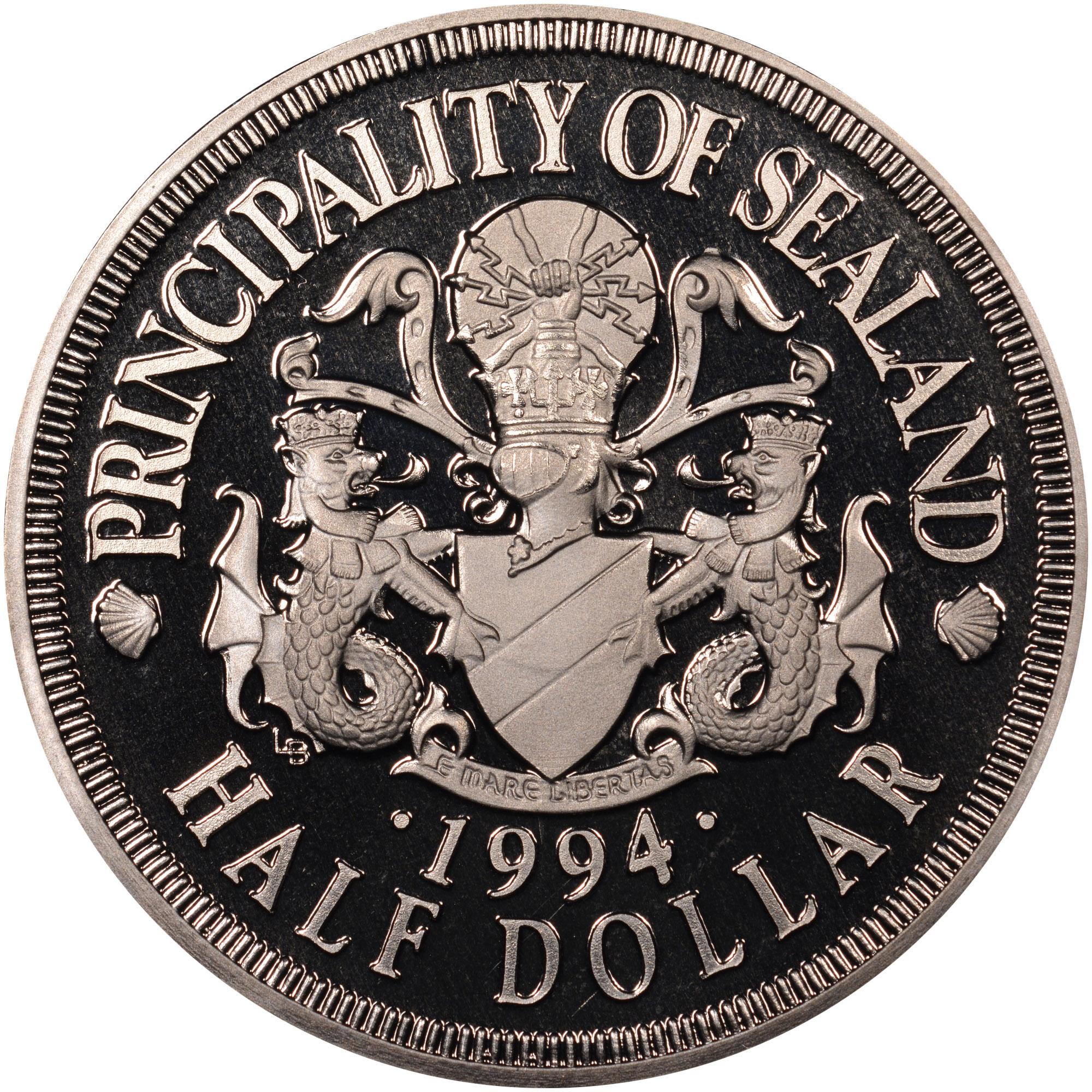 Sealand 1/2 Dollar obverse