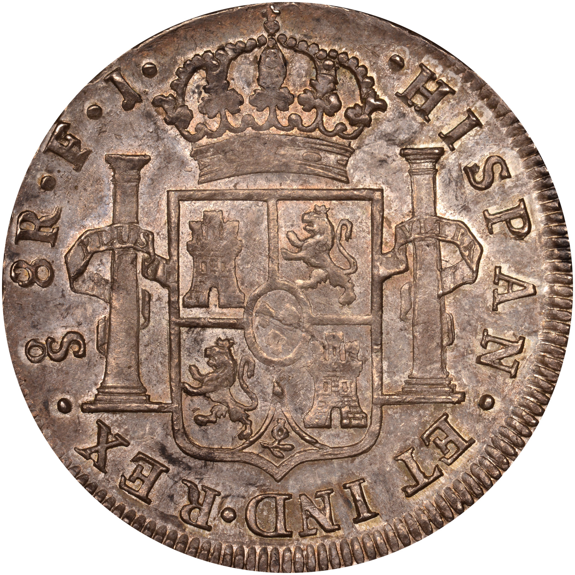 1812-1817 Chile 8 Reales reverse