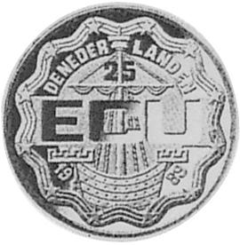Netherlands 25 ECU reverse
