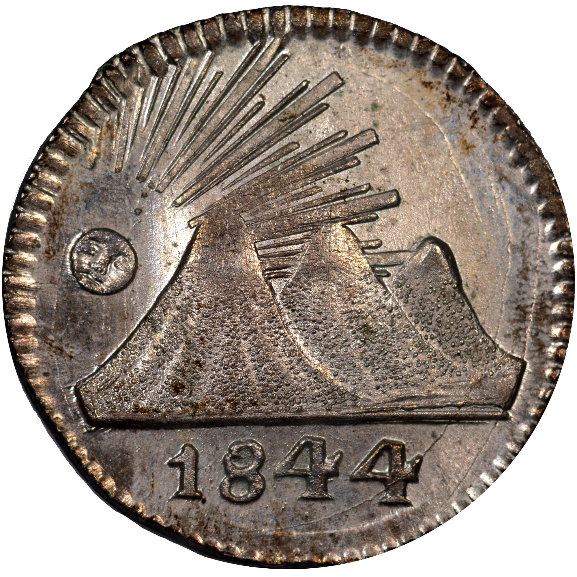 1824-1851 Central American Republic 1/4 Real obverse
