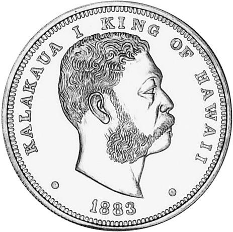 1883 Hawaii Akahi Dala obverse