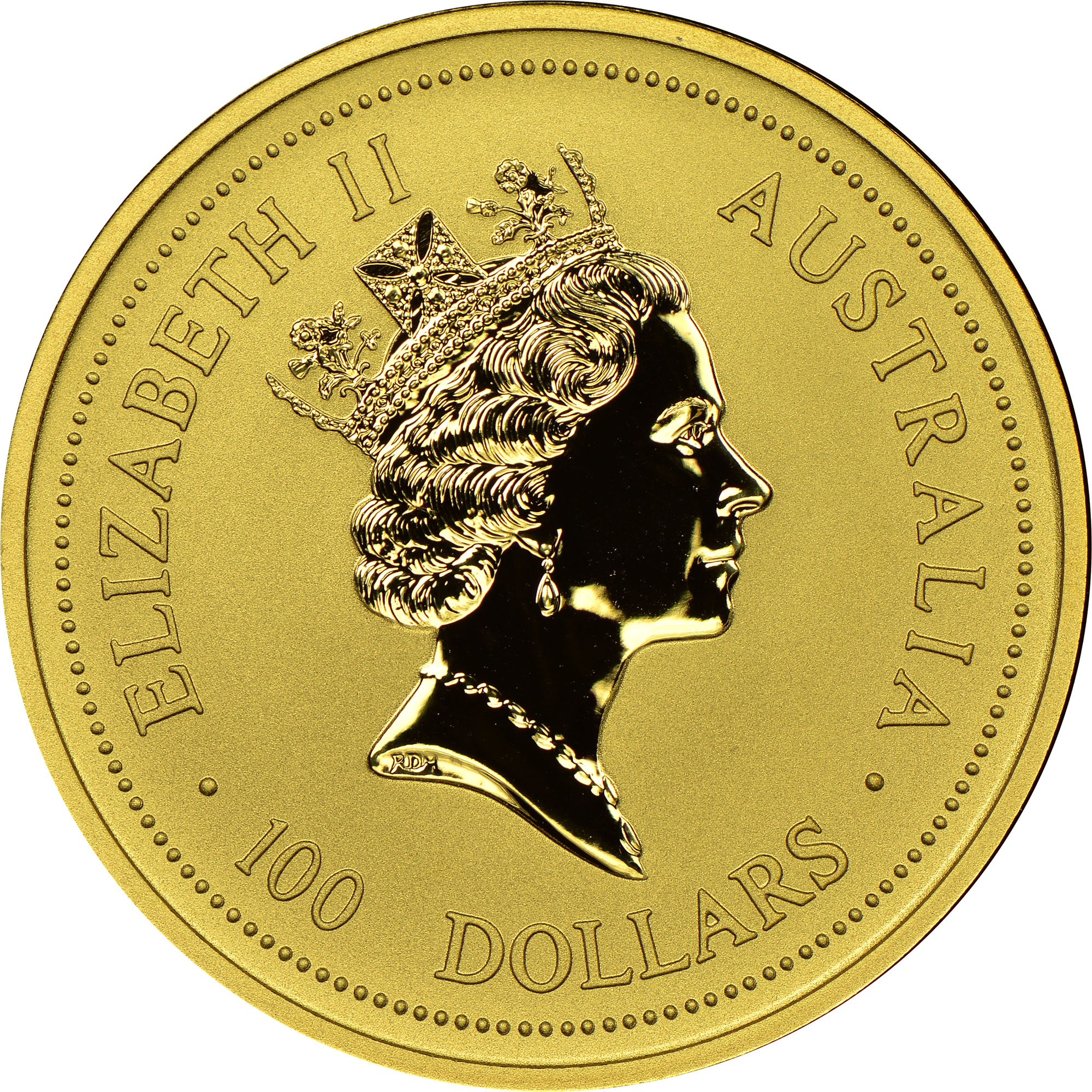 1998 Australia 100 Dollars obverse