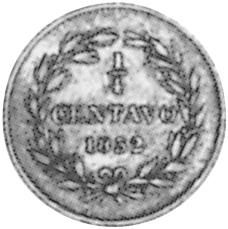 Venezuela 1/4 Centavo reverse