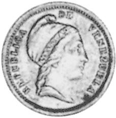 Venezuela 1/4 Centavo obverse