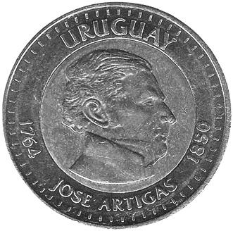 Uruguay 10 Pesos Uruguayos obverse