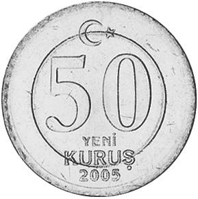 Turkey 50 New Kurus reverse