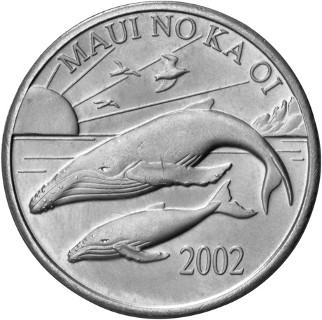 2002 Hawaii Maui Trade Dollar obverse