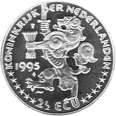 Netherlands 2-1/2 ECU obverse