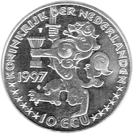 Netherlands 10 ECU obverse