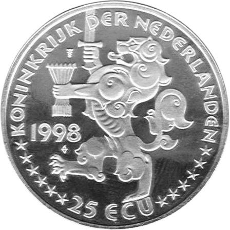 Netherlands 25 ECU obverse