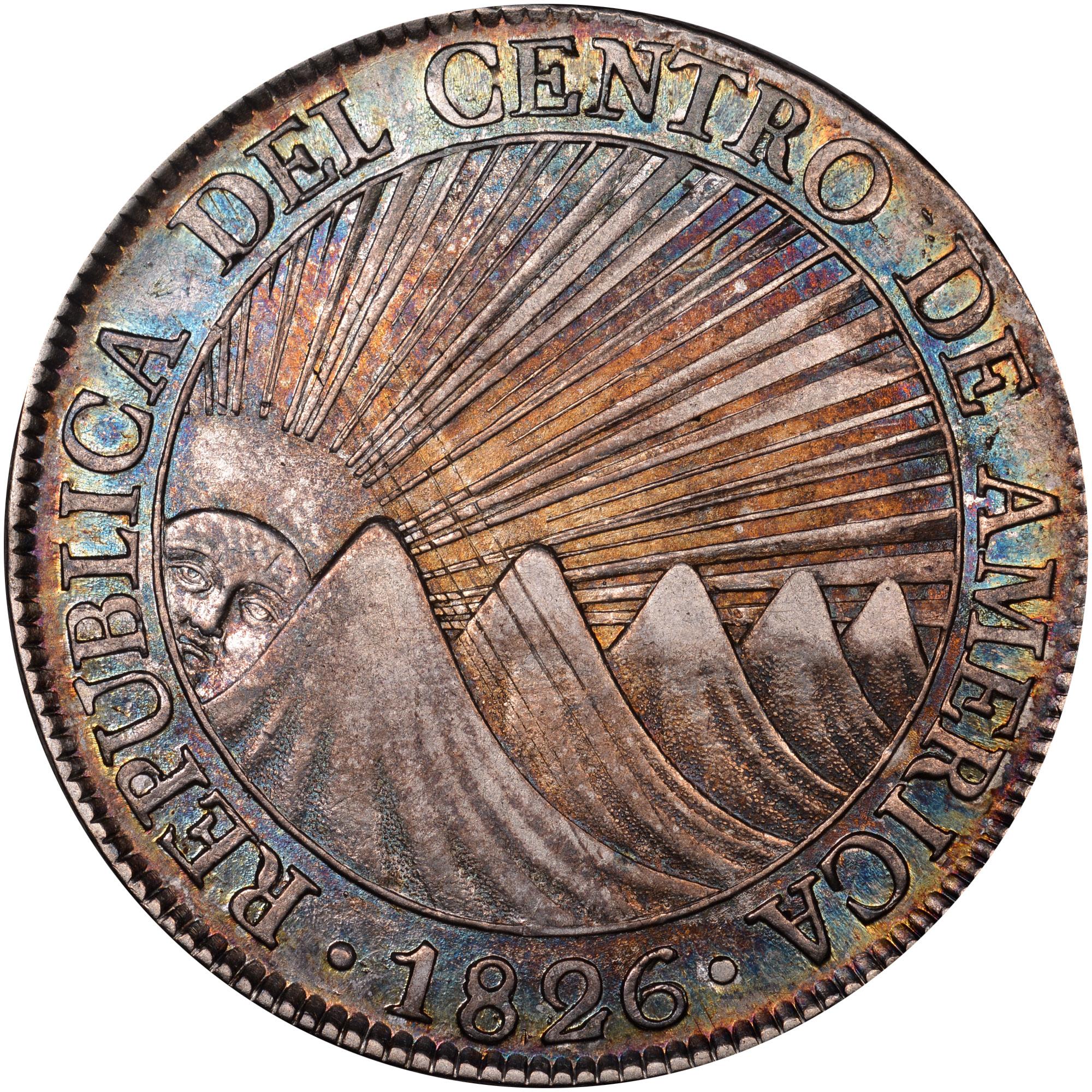 1824-1847/6 Central American Republic 8 Reales obverse