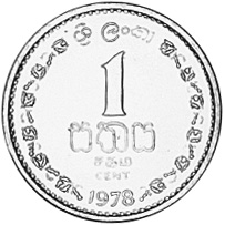 Sri Lanka Cent reverse