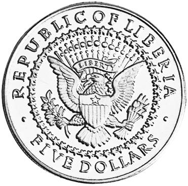 Liberia 5 Dollars obverse