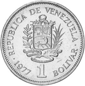 Venezuela Bolivar obverse