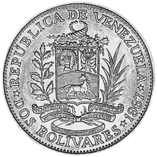Venezuela 2 Bolivares obverse