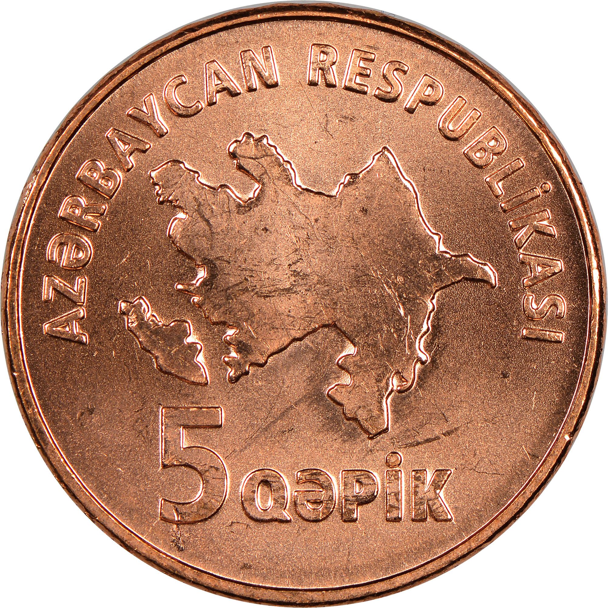 Azerbaijan 5 Qapik obverse