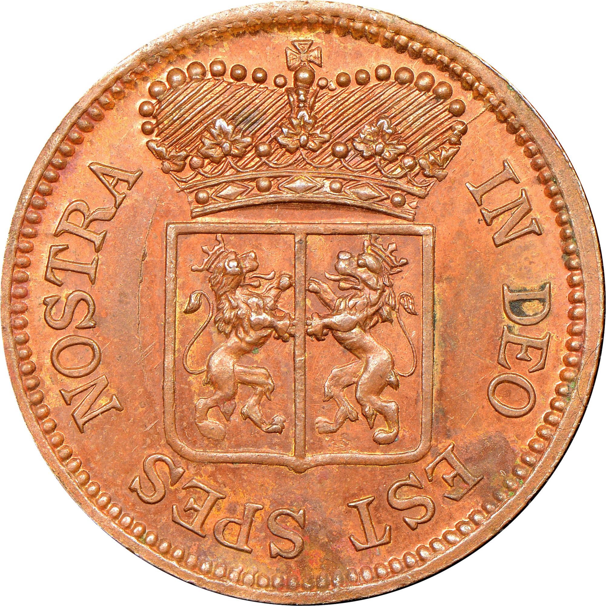 Netherlands East Indies Duit obverse
