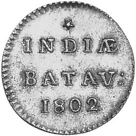 Netherlands East Indies Duit reverse