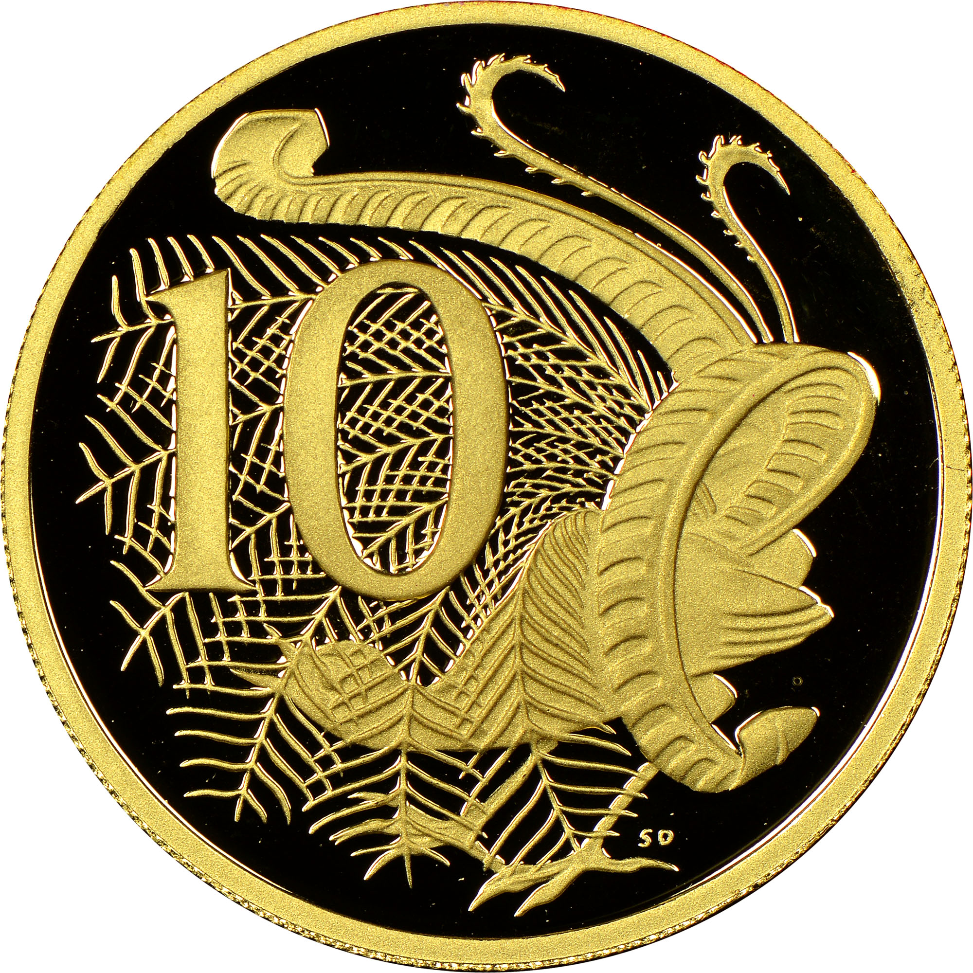 2001-2006 Australia 10 Cents reverse
