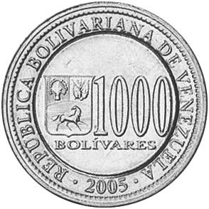 Venezuela 1000 Bolivares reverse
