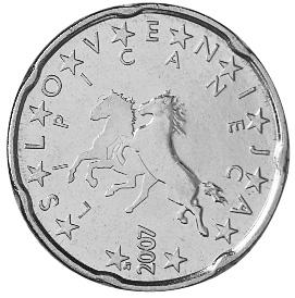 Slovenia 20 Euro Cent obverse
