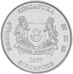 Singapore 20 Cents obverse