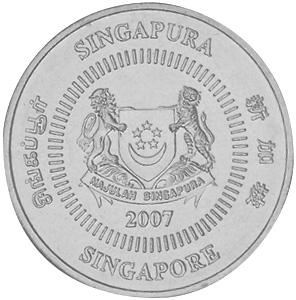 Singapore 50 Cents obverse