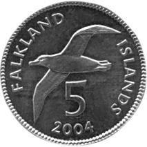 Falkland Islands 5 Pence reverse