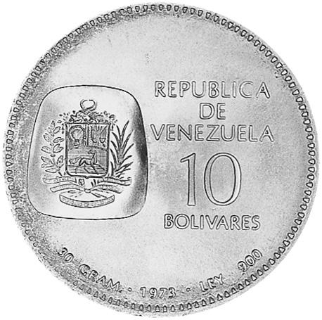 Venezuela 10 Bolivares obverse