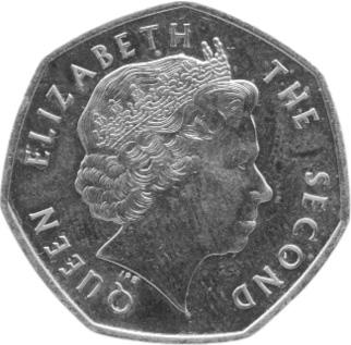 Falkland Islands 50 Pence obverse