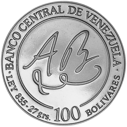 Venezuela 100 Bolivares obverse
