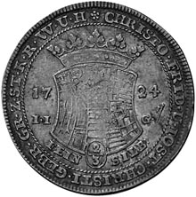 1715-1738 German States STOLBERG-STOLBERG 2/3 Thaler, Gulden obverse