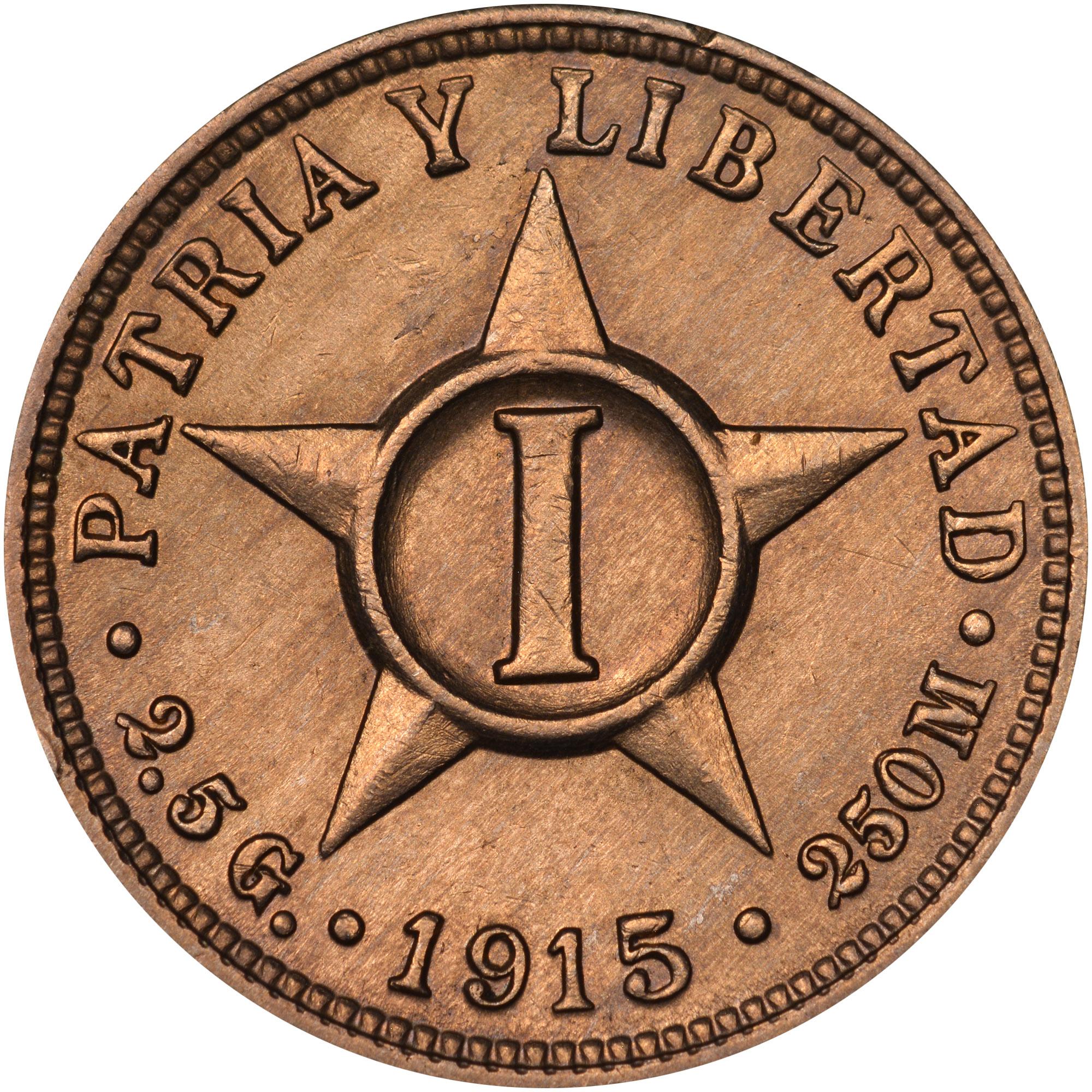 1915-1938 Cuba Centavo reverse