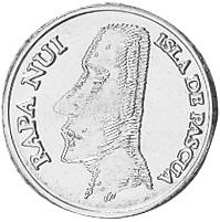 Rapa Nui - Isla De Pascua - Easter Island Peso obverse