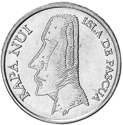 Rapa Nui - Isla De Pascua - Easter Island 5 Pesos obverse