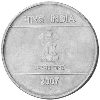 India-Republic 2 Rupees reverse