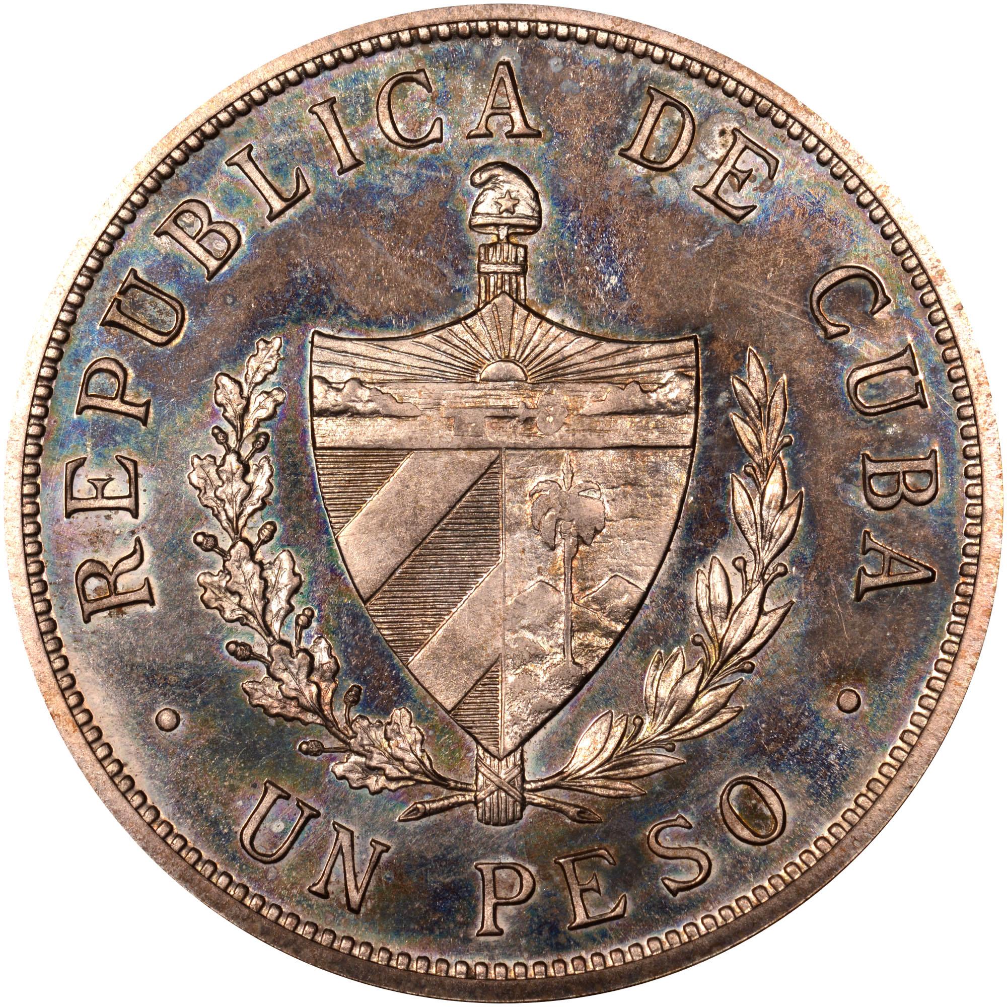 1915 Cuba Peso obverse