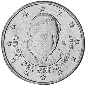 Vatican City 50 Euro Cent obverse