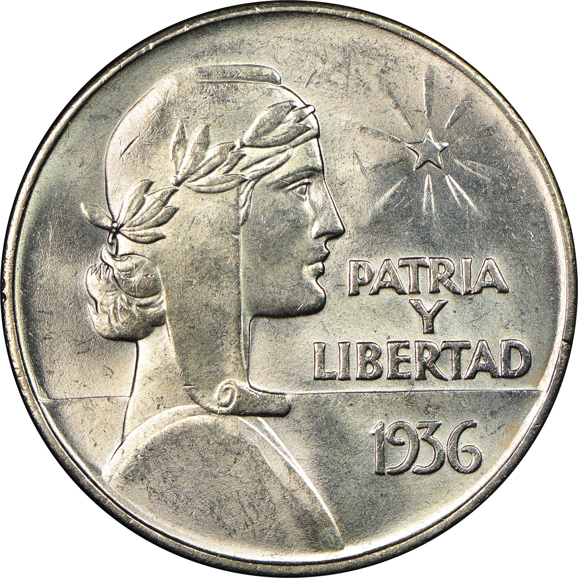 1934-1939 Cuba Peso reverse